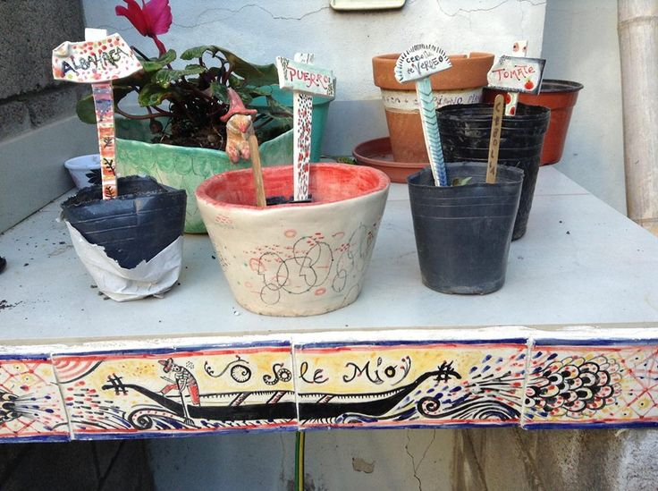 Ceramic names for the plants