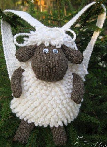 crochelinhasagulhas: Mochila de crochê e tricô                                                                                                                                                      Más