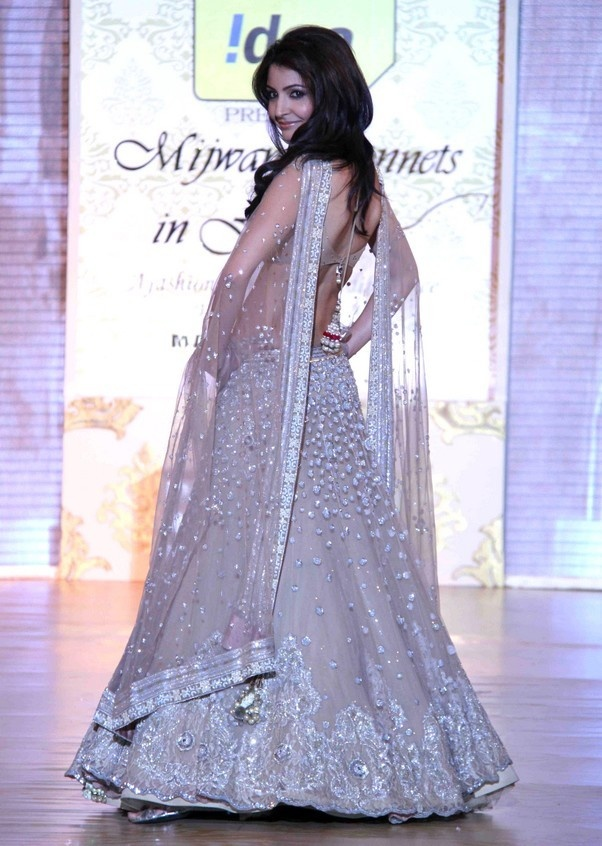 Manish Malhotra lehngha with silver beading and sequins.