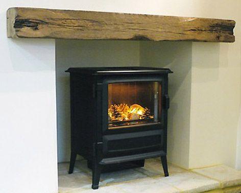 log burner fireplace railway sleeper - Google Search