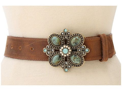 Crystal and stone buckle belt from Leatherock. #western #accessories #zappos