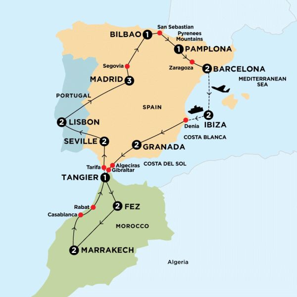 my dream trip iberian peninsula and morocco tour includes spain morocco and
