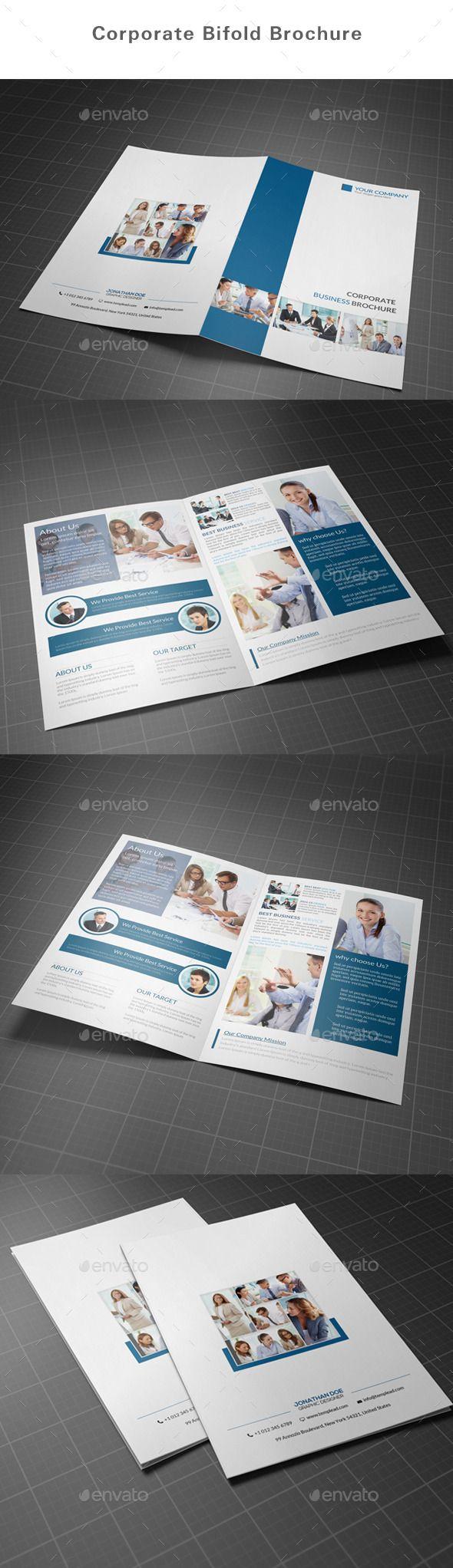 Corporate Bifold Brochure Template. Download: http://graphicriver.net/item/corporate-bifold-brochure/10991163?ref=ksioks