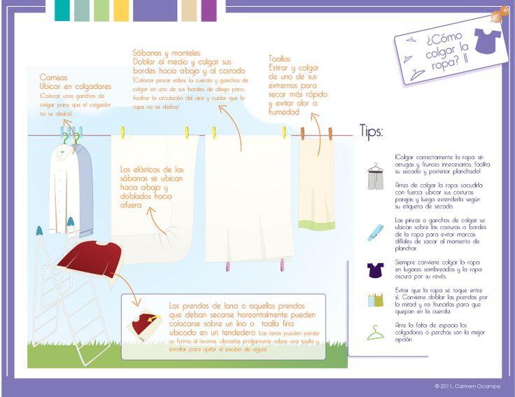Cómo tender la ropa (1 de 2).  Capítulo 3 - Blancos y prendas