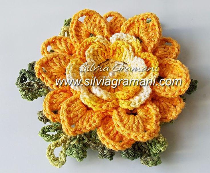 Passo a Passo Flor de Crochê em Barbante - Flor Melissa - Terceira Parte