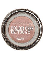 """Тени для век """"Color Tattoo 24 часа"""" оттенок 65 Розовое золото 35 мл Maybelline New York  Технология тату-пигментов теней для век """"Color Tattoo 24 часа"""" создает яркий супернасыщенный цвет. Крем-гелевая текстура обеспечивает ультралегкое нанесение и стойкость на 24 часа. Способ применения: нанеси каплю на веко и растушуй ее от внутреннего угла глаза к внешнему.. Тени для век """"Color Tattoo 24 часа"""" оттенок 65 Розовое золото 35 мл Maybelline New York промокоды купоны акции."""