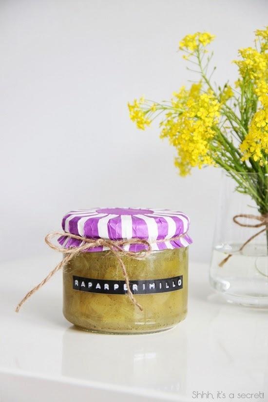 Rhubarb Jam with Vanilla - Shhh, it's a secret!