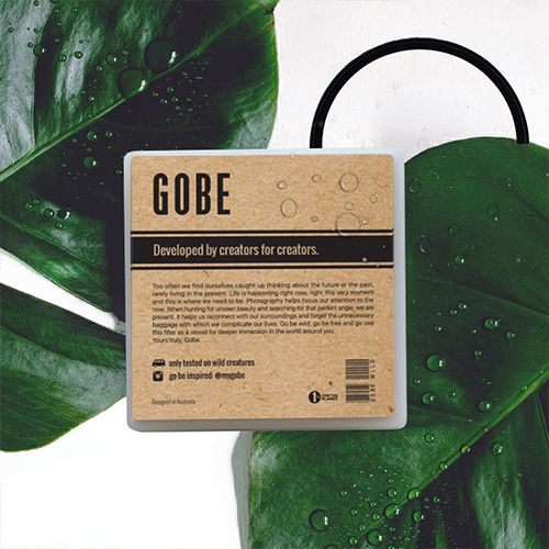 Gobe lens filters: 5 trees planted with every purchase. https://mygobe.com/ #lens #filters #camera #accesories #design #packaging