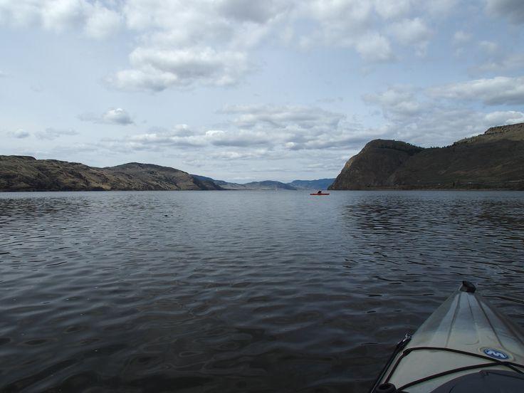 (Kayaking on) Kamloops Lake, April 2014