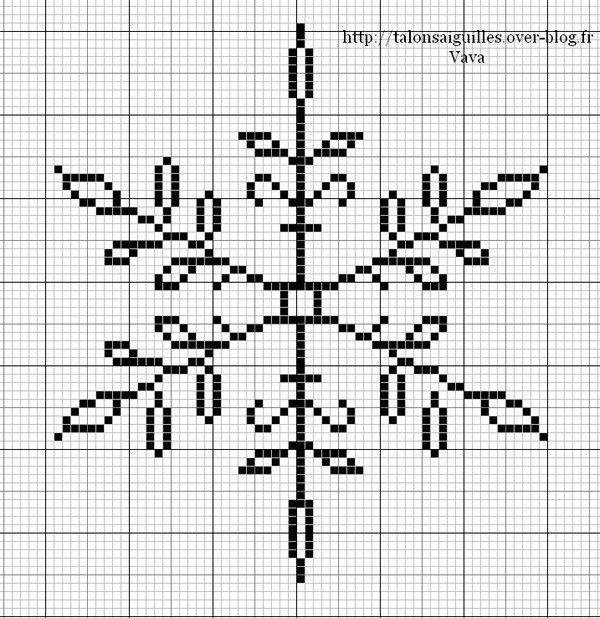 snowflake cross stitch pattern - free