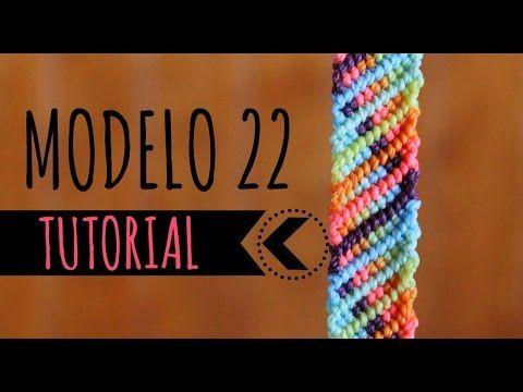 Pulseras de macramé / ♥︎ Modelo 1 (English subtitles) - YouTube