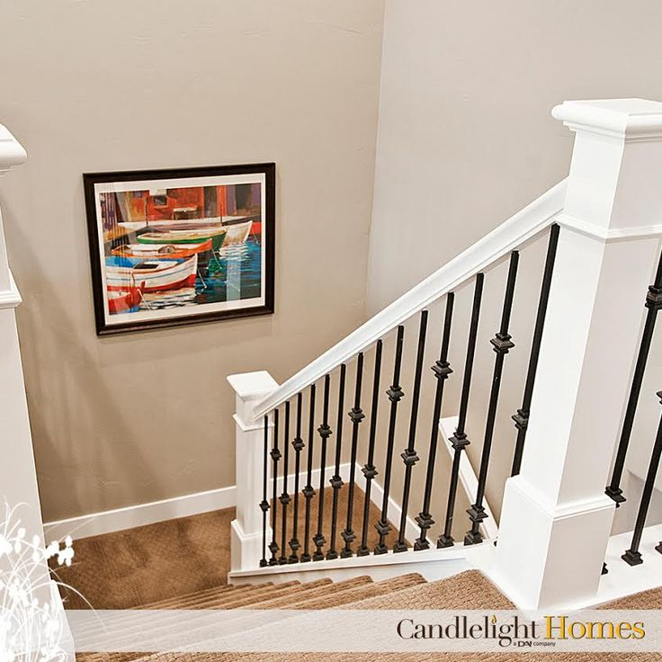 Take A Look At That Craftsmanship! Beautiful Staircase And Railing!  #candlelighthomes #utahbuilder