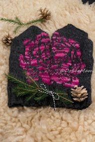DIY lahjontaa || Knitted peonie- mittens. #peonies #flower #knitting