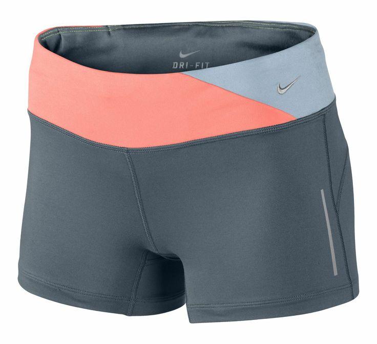 Women's NIKE® EPIC RUN BOY SHORT :: Make every run an epic run when you stride fancy free with a touch of sass in the women's Nike® Epic Run Boy Short.
