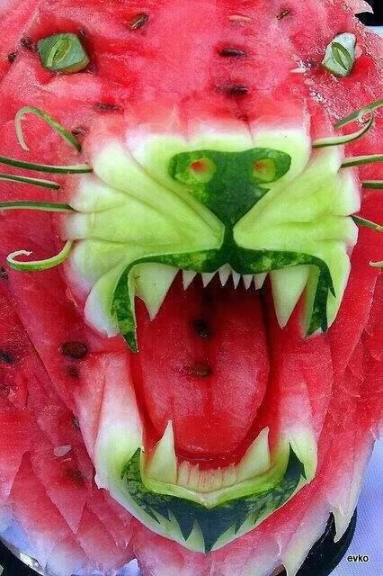 Two of my favorite things.....Watermelon & Panther