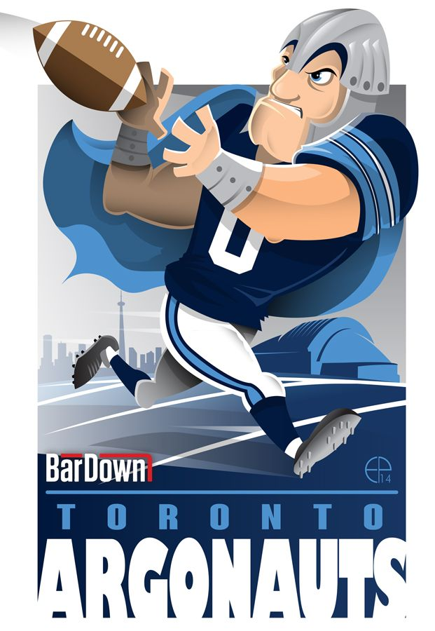 #EPoole88 (Eric Poole) is at it again, this time with the CFL. Here is his rendition for the Toronto Argonauts.