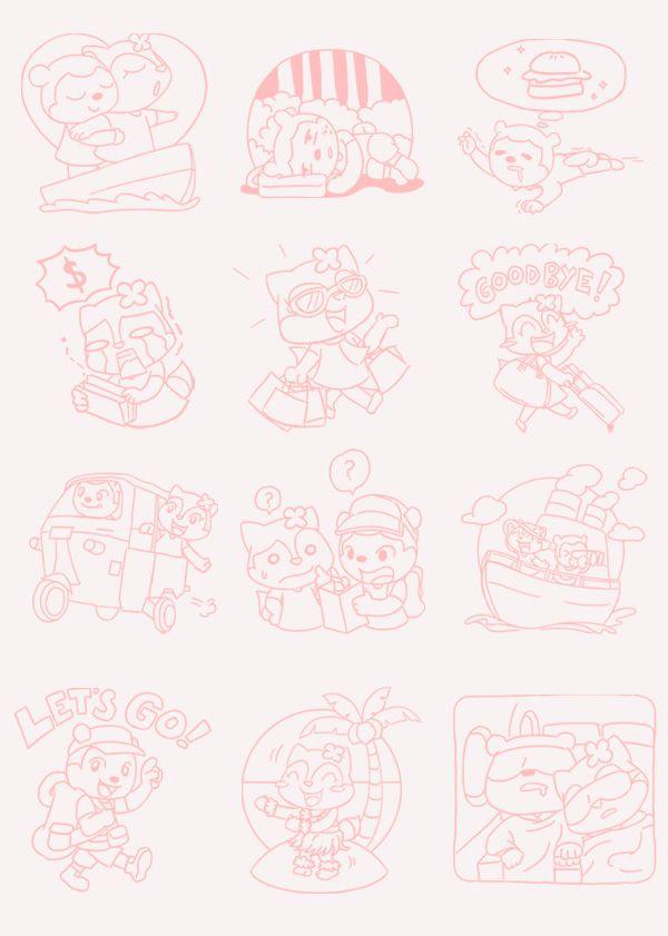 Puffy & Cherry Memorable Trip Sticker on Behance