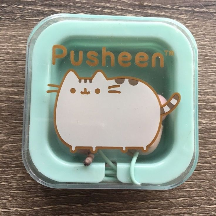 NEW Pusheen the Cat Earbuds 2017 Summer Subscription Box Exclusive Headphones #Culturefly