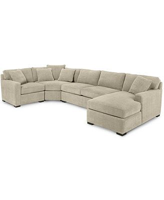 Radley 4-Piece Fabric Chaise Sectional Sofa Reg. $2,498.00 Was $1,799.00 Sale $1,589.00