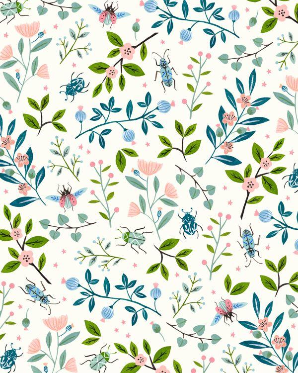 Insects pattern - Flora Waycott