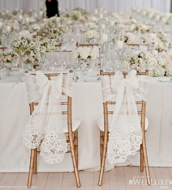 Stylish sweetheat-table chair decorations