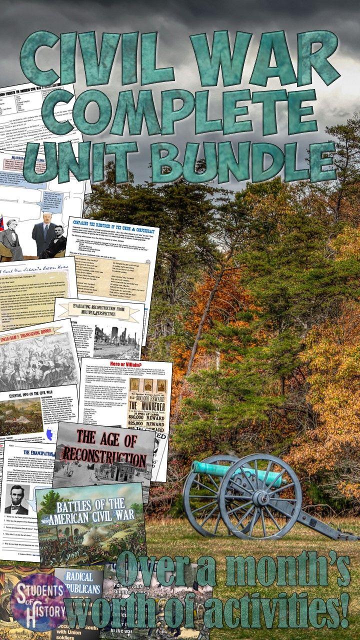 best images about the civil war civil wars civil war and reconstruction complete unit bundle