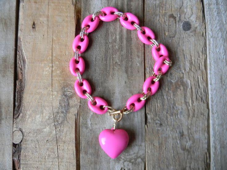 Gran corazón rosa