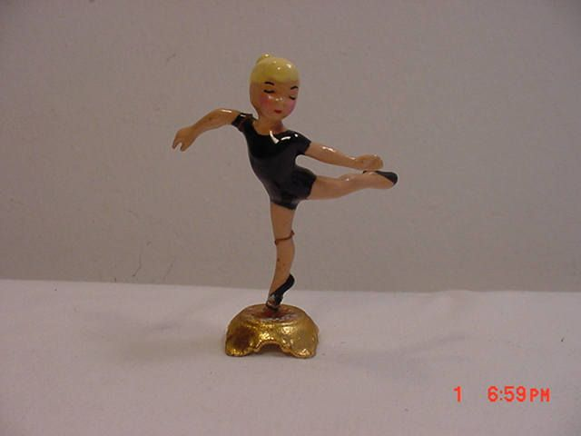 Vintage Blonde Little Girl Ballerina Figurine  17 - 628 by HardlyAbleStable on Etsy