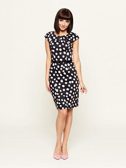 Left Bank Spot Dress. Loving the irregular spots!