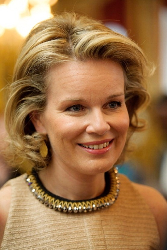 Princess Mathilde of Belgium attends the Princess Mathilde Awards 2013 on 3 May in Brussels