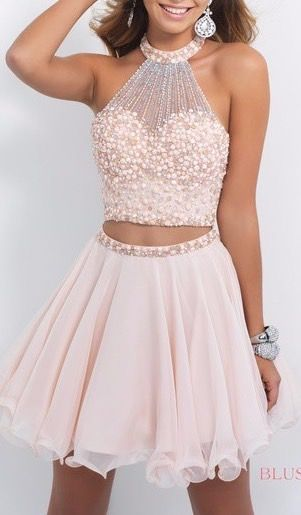 Lovely Short Chiffon Homecoming Dresses, Party dresses, Prom dresses