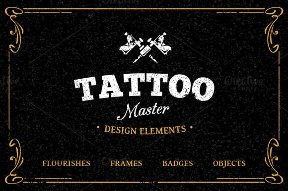 Tattoo Design Elements by Vecster on Creative Market