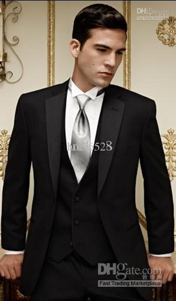 groom suit - love black and maybe instead of silver do a light purple or white