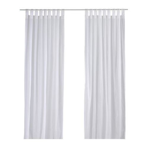 MATILDA Sheer curtain, 2 panels IKEA The curtains let the light through but provide privacy so they are perfect to use in a layered window solution.