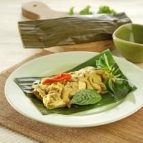 =Indonesian food: Pepes Usus Ayam Tahu Kuning=