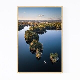Noir Gallery Finland Teijo National Park Lake Framed Art Print (20 x 30 – Black)