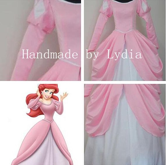 Handmade Pink Ariel Dress Ariel Costume Princess by LydiaCosplay