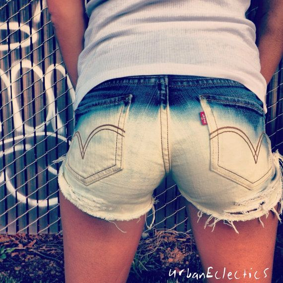 Distressed Bleached Studded Shorts by UrbanEclectics on Etsy, $55.00