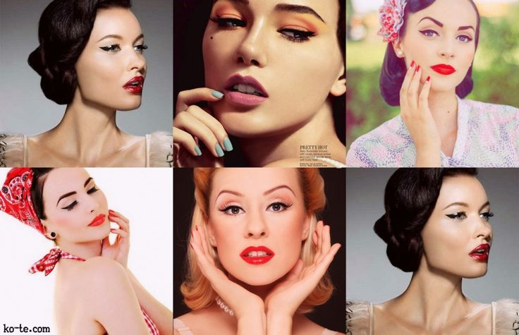 Pin-Up Makeup. Looks, tips and tutorials