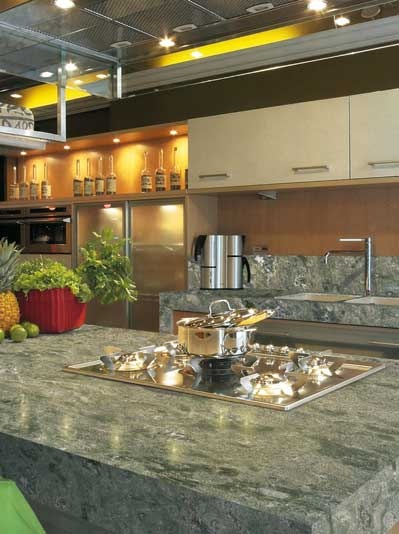 #Granite #countertops are especially durable and available in an array of colours for #counters, #vanities and #splashbacks. #UnionTiles