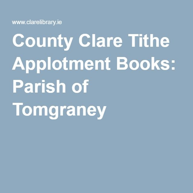County Clare Tithe Applotment Books: Parish of Tomgraney
