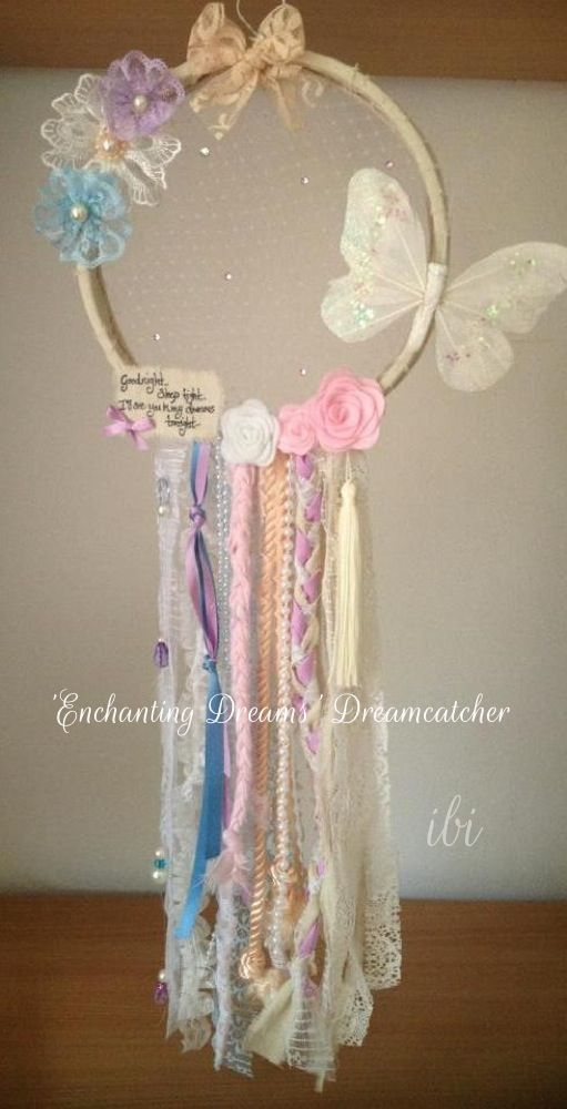 Enchanting Dreams Dream Catcher -  Darling and divine , fit for a princess ! handmade by www.facebook.com/ittybittyindidesigns