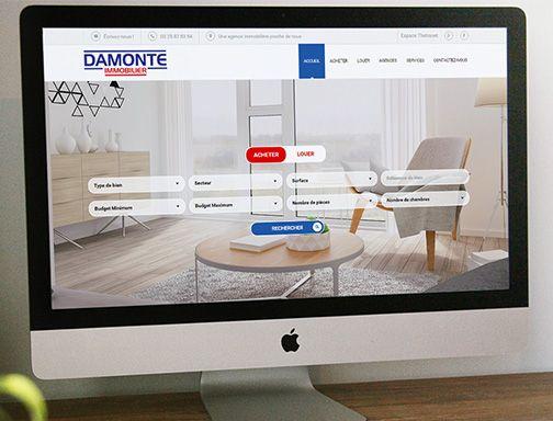 Site Internet pour l'agence immobilière Damonte Immobilier.