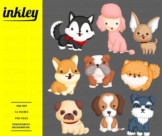 Dog Breeds Clipart Cute Dogs Clip Art Home Pet Free Svg Etsy Dog Clip Art Clip Art Cute Animal Clipart