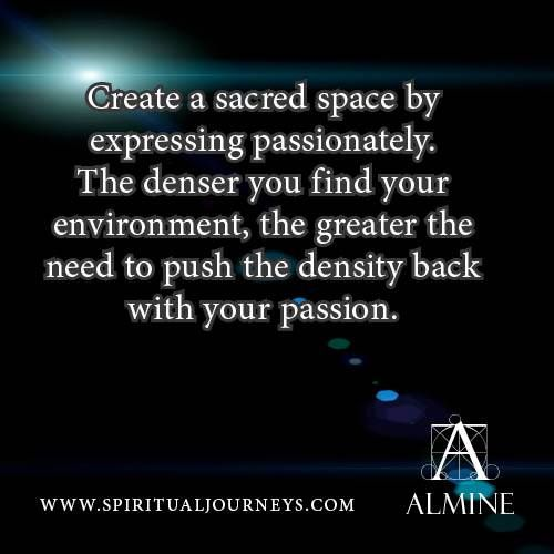 How to create a sacred space...