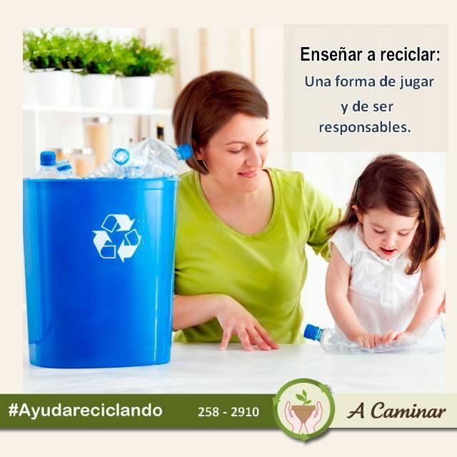 """El cuidado del medio ambiente comienza desde casa, con la participación y colaboración de toda la familia. ¡Se parte del cambio! Descubre más de nuestro trabajo aquí: http://acaminar.org/donaciones/ Contáctenos : 2582910 """"A caminar"""", reciclamos para ayudar ❤"""