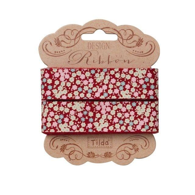 481275 Tilda Ribbon, 20mm, Cabbage Rose- Tess Red