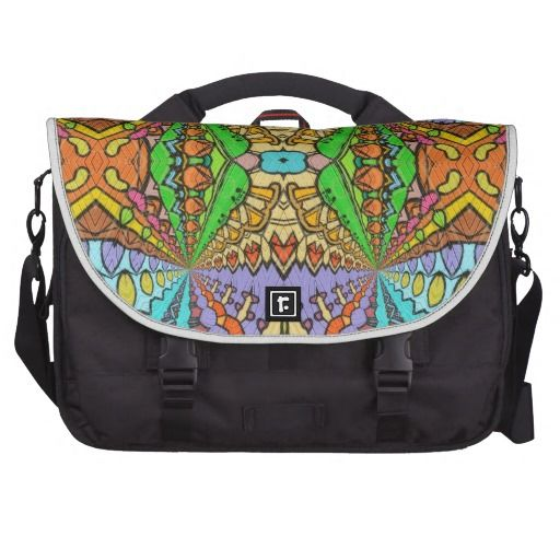 colorful kaleidoscopic pattern computer bag