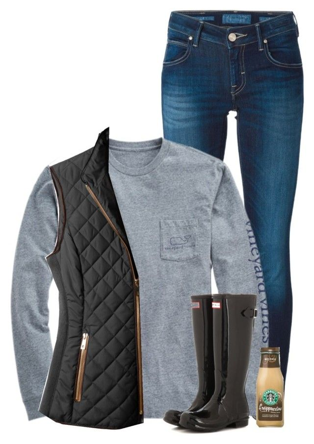 """""""Vineyard vines and hunters❤️"""" by savanahe on Polyvore featuring Jacob Cohёn, Vineyard Vines, LE3NO, Hunter, women's clothing, women's fashion, women, female, woman and misses"""