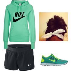 Lazy athletic outfit by paytondelaney on Polyvore | best stuff except not those color nikes